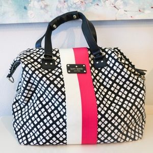 Kate Spade Juliet Blk White Pink Bag